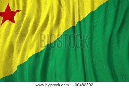 Corrugated Brazilian State Acre Flag