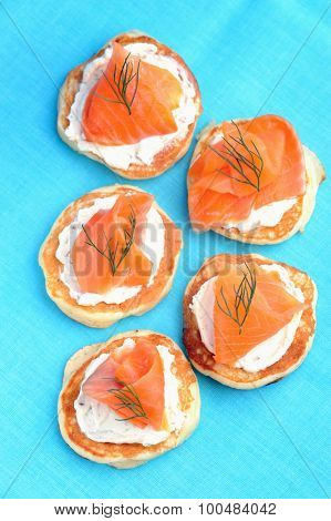 Bite size smoked trout appetisers