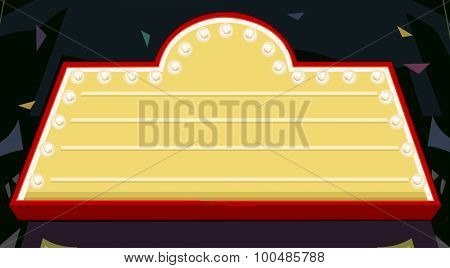 Illustration of a Nightclub Marquee with the Lights On