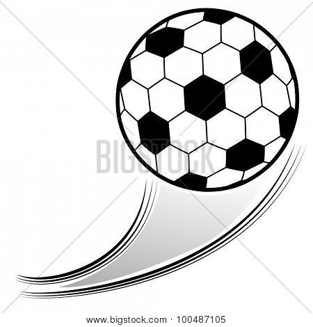An image of a soccer ball in the air.