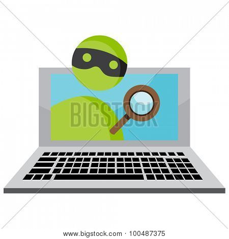 An image representing personal identity theft over the internet.