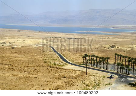 Judean Desert And Dead Sea In Israel