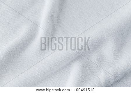 Wrinkles of the white towel