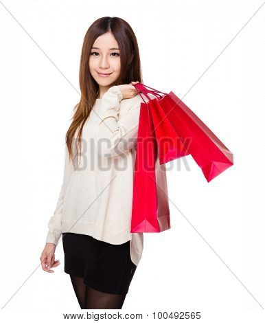 Young woman carry with shopping bag