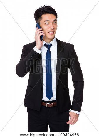Asian businessman talk to cellphone