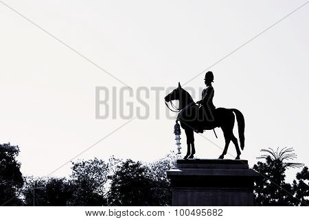 Black And White Equestrian Statue