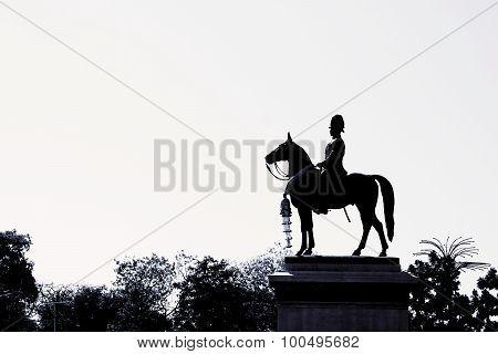 Black And White Equestrian Statue