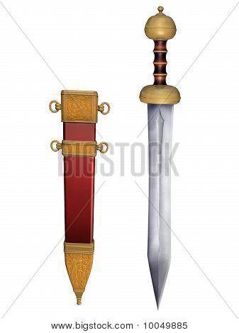 Roman Gladius With Scabbard