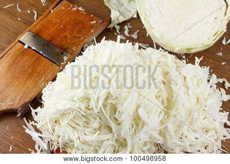 Chopped Fresh White Cabbage