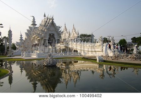 White Temple Wat Rong Khun In Chiang Rai, Northern Thailand