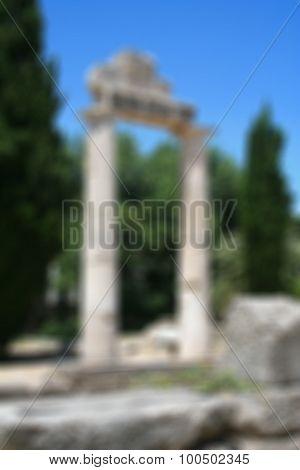 Greece. Kos Island. In Blur Style
