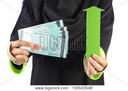 Green Arrow With Money