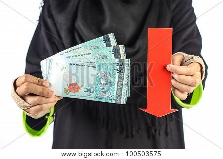 Red Arrow With Money