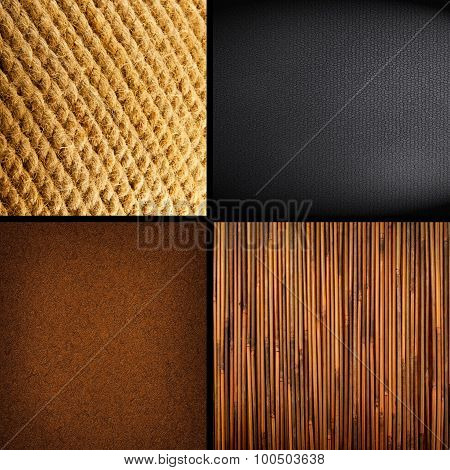 Collection Of Four Textures Backgrounds