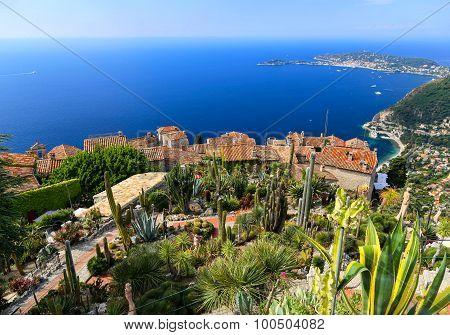 Botanical Garden In Eze Sur Mer, French Riviera