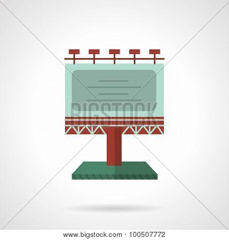 Colored billboard flat vector icon
