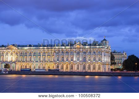 Building Of The Hermitage At Night, St. Petersburg