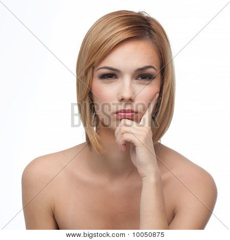 Portrait Of A Young Woman, Thinking