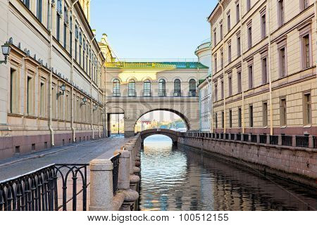 Winter Canal Embankment
