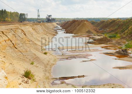 Ecological Catastrophy In Mud Sand Quarry