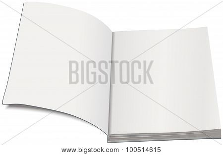 White paperback template. Open book paperback