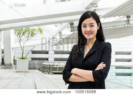Businesswoman standing at outdoor