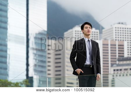 Businessman standing at outdoor