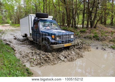 Four Wheel Drive On Muddy Track