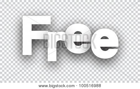 Free paper sign over cells. Vector illustration.