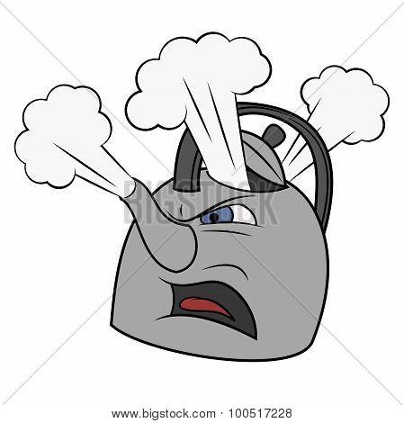 Angry tea kettle