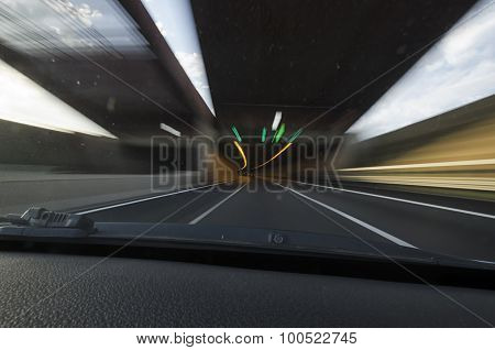 Tunnel Of The Motorway