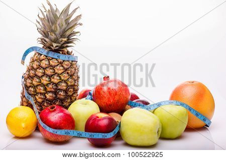 Tropical Fruits With Tape-line