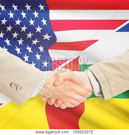 Businessmen Handshake - United States And Central African Republic