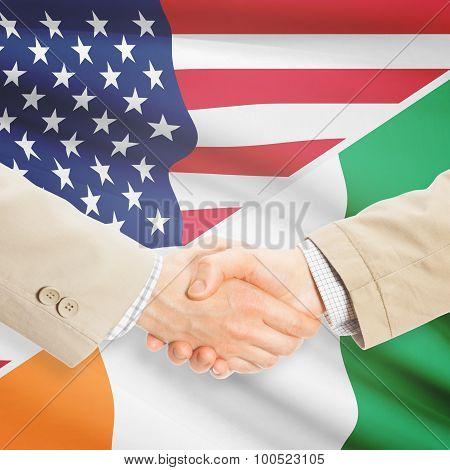 Businessmen Handshake - United States And Ivory Coast