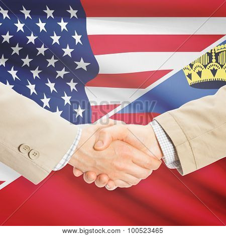 Businessmen Handshake - United States And Liechtenstein