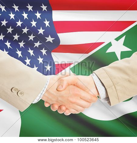 Businessmen Handshake - United States And Pakistan