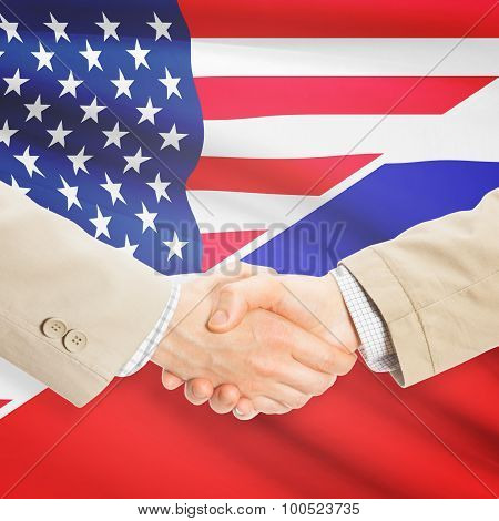 Businessmen Handshake - United States And Russia