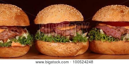 Three Tasty Burgers