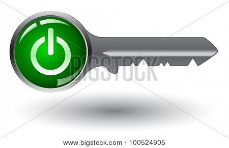 Vector logo design element on white background. Real estate, key.