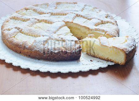 Lemon Cake And Almonds Homemade