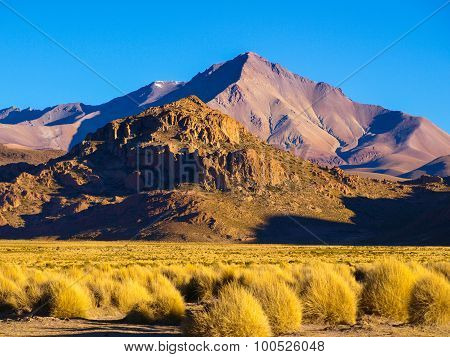 Mountain landscape of Cordillera de Lipez in Bolivia