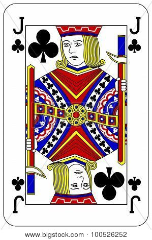 Poker Playing Card Jack Club