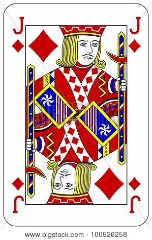 Poker Playing Card Jack Diamond