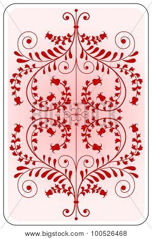 Poker Playing Card Backside Red