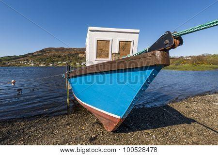 Boat On Beach Portree Scotland