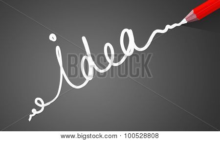 Idea concept image with pencil drawing light bulb