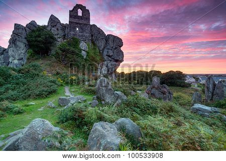 Fiery Sky Over Roche Rock