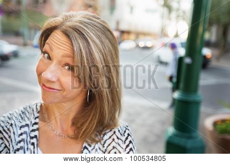 Grinning Woman