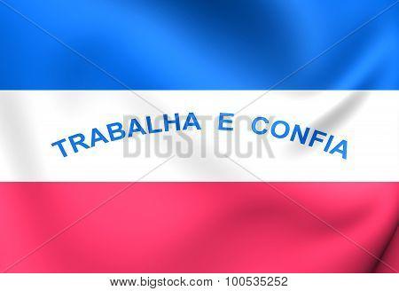 Flag Of Espirito Santo State, Brazil.