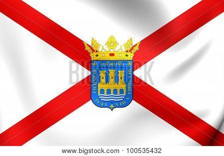 Flag Of Logrono City (la Rioja), Spain.